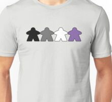 Asexual Pride (Minimal Meeple Edition) Unisex T-Shirt