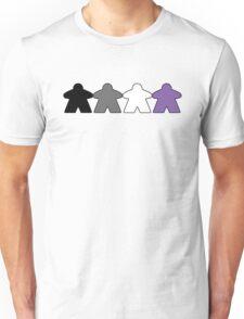 Asexual Pride (Minimal Meeple Edition) Unisex T-Shirt