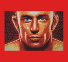 "Georges ""Rush"" St Pierre Extreme Close Up in Sharpie by JMCSharpieArt"