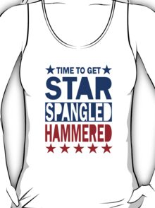 4th of July Tank Top - Star Spangled Hammered T-Shirt