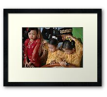 wedding guests Framed Print