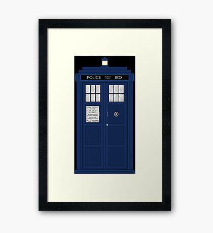 Doctor Who's Tardis Framed Print