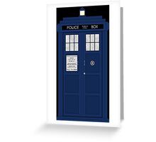 Doctor Who's Tardis Greeting Card