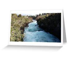 Blue Ribbon River Greeting Card