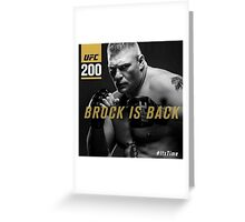 Brock ufc Greeting Card