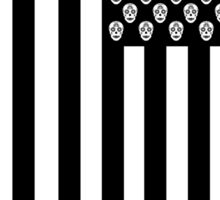 Day of the Dead American Flag Sticker