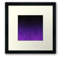 Purple & Black Glitter Gradient Framed Print