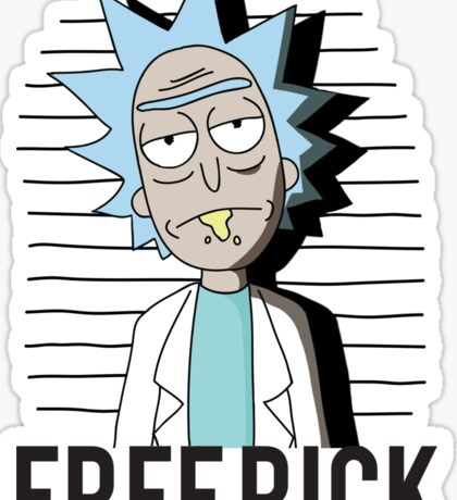 FREE RICK Sticker
