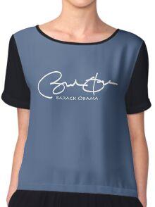 Barack Obama Signature tee Chiffon Top