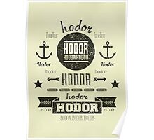 Hipster Hodor  Poster