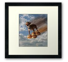 Burger Dog Framed Print