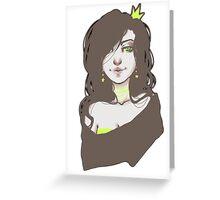 Grungy Princess Greeting Card