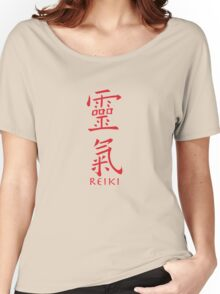Reiki in Kanji Japanese Characters Women's Relaxed Fit T-Shirt