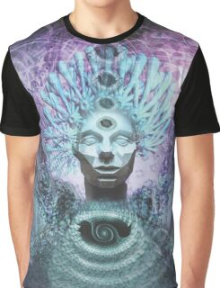 Psychedelic Chieftain Visionary Artwork Prints Graphic T-Shirt