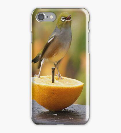 Silver Eye....... ' buzz off birdbrain ' ..........!     iPhone Case/Skin