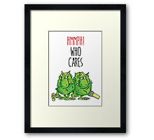 The Terrible Two Framed Print