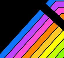 80's Neon Colour Stripes by Ged J
