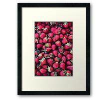 Summer Strawberries Framed Print