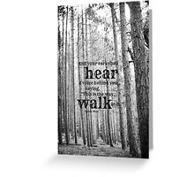 Isaiah 30 Walk Greeting Card