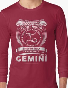 I am a gemini Long Sleeve T-Shirt