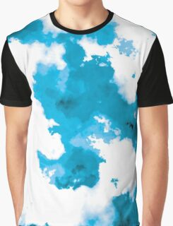 blue and black watercolor Graphic T-Shirt