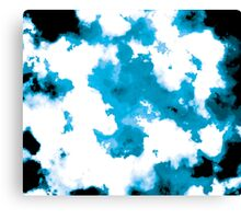 blue and black watercolor Canvas Print
