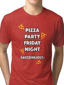 Pizza Party Friday Night Saccone Jolys Tri-blend T-Shirt