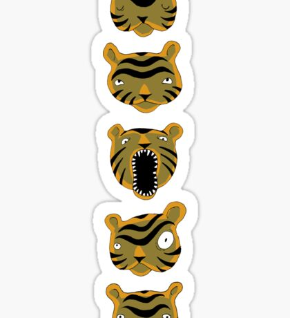 Tiger Buttons Sticker