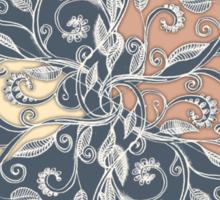 Organic Hexagon Pattern in Soft Navy & Cream  Sticker