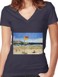 Bondi Summer Women's Fitted V-Neck T-Shirt