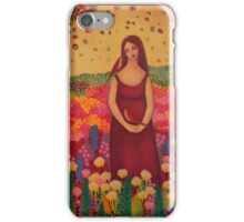 Woman with Birds iPhone Case/Skin