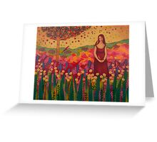 Woman with Birds Greeting Card