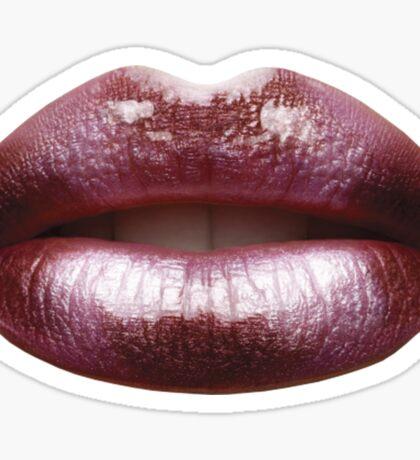 Rose Metallic Lips Sticker