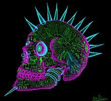 evil punk skull of fuck off - ness by cavia