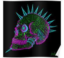 evil punk skull of fuck off - ness Poster