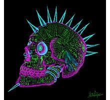 evil punk skull of fuck off - ness Photographic Print