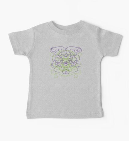 Abstract in black, green, lavender Baby Tee