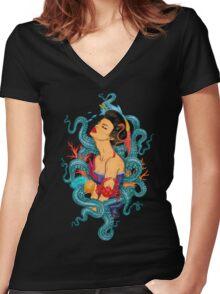 True Ocean Delight Women's Fitted V-Neck T-Shirt