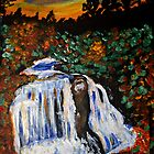 waterfalls painting by Brent Fennell
