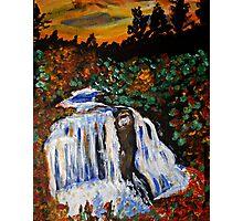 waterfalls painting Photographic Print