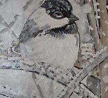 Chickadee Painting by Brent Fennell