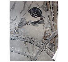Chickadee Painting Poster