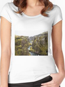 mountain river Women's Fitted Scoop T-Shirt