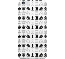 Black White Chess Pieces Pattern iPhone Case/Skin