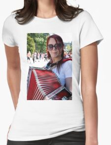 Red Accordion Womens Fitted T-Shirt