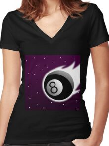 Cosmic Know-it-All Women's Fitted V-Neck T-Shirt
