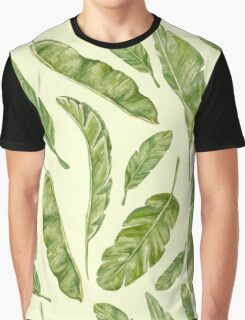 pattern with banana leaves Graphic T-Shirt