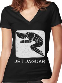 Jet Jaguar is Cyclical Women's Fitted V-Neck T-Shirt