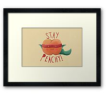 stay peachy  Framed Print