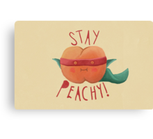 stay peachy  Canvas Print
